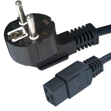 Cablu alimentare, conectori 16A la IEC C19, lungime cablu 1.8m, bulk, Negru, GEMBIRD  0