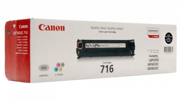 Toner Original pentru Canon Negru CRG-716B, compatibil LBP5050, 2300pag  0