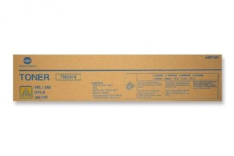 Toner Original pentru Konica-Minolta Yellow TN-314Y, compatibil BizHub C353,  1 flacon, 20000pag  0