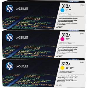 Toner Original pentru HP Color Tri-Pack 312A, compatibil M476, 3x2700pag  [0]