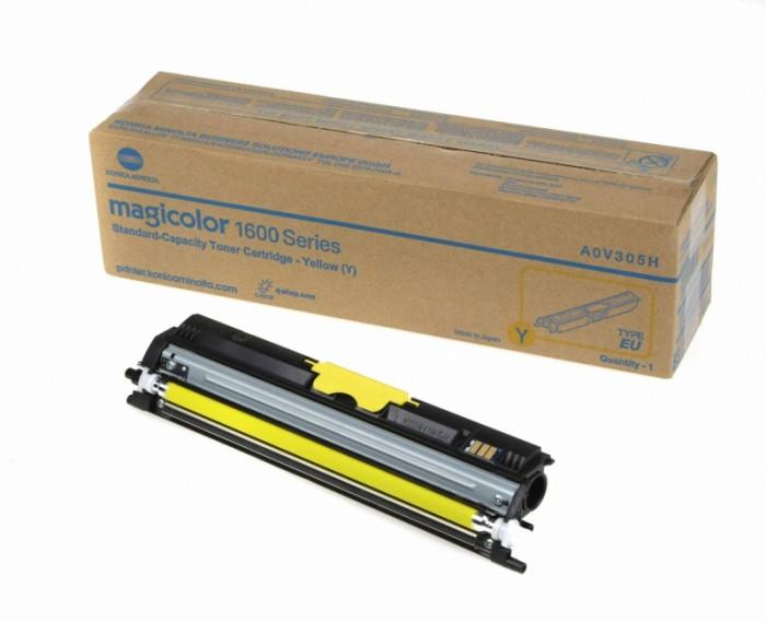Toner Original pentru Konica-Minolta Yellow, compatibil MC 1600/1650/1680/1690,  1500pag  0