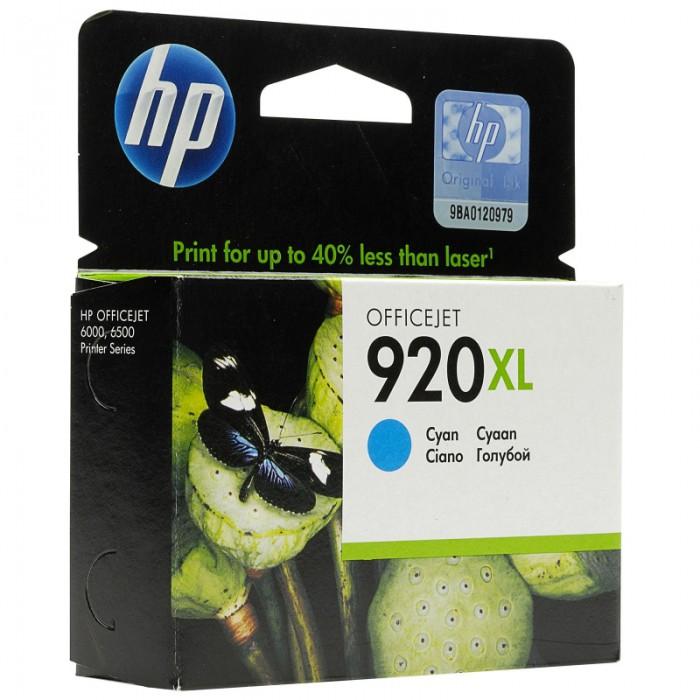 Cartus cerneala Original HP Cyan 920XL, compatibil OfficeJet 6000/6500/7000/7500, 700pag  [0]