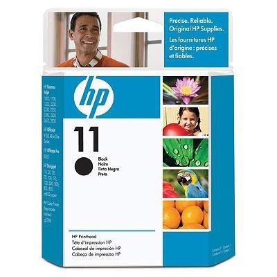 Cartus cerneala Original HP Black Printhead 11, compatibil DesignJet 500/600/CP1700/2xxx, 16000pag  0