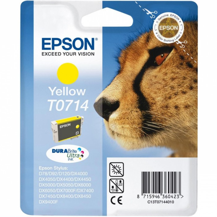 Cartus cerneala  Original Epson Yellow C13T07144011 compatibil  Stylus D78,DX4000/4050/5000/5050/6000/6050/7000F  [0]
