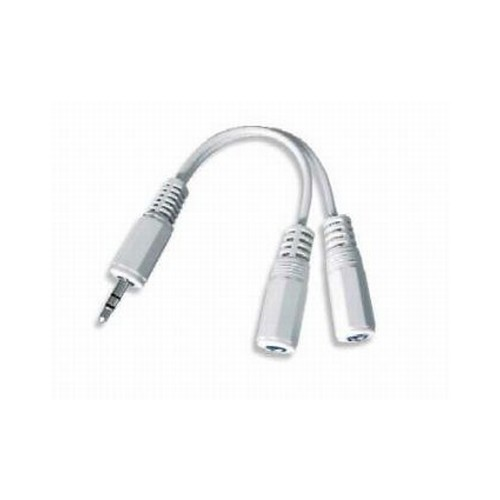 Cablu Audio spliter, conectori jack de 3.5mm la 2x conectori stereo, lungime cablu: 10cm, bulk, Alb, GEMBIRD  [0]