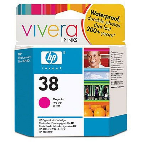 Cartus cerneala Original HP Magenta 38 w.Vivera ink, compatibil PhotoSmart B9180/Pro B8850/9180, 27ml  0