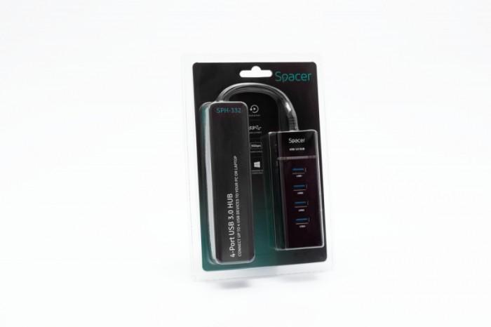 HUB USB 3.0, 4 porturi, Spacer  0