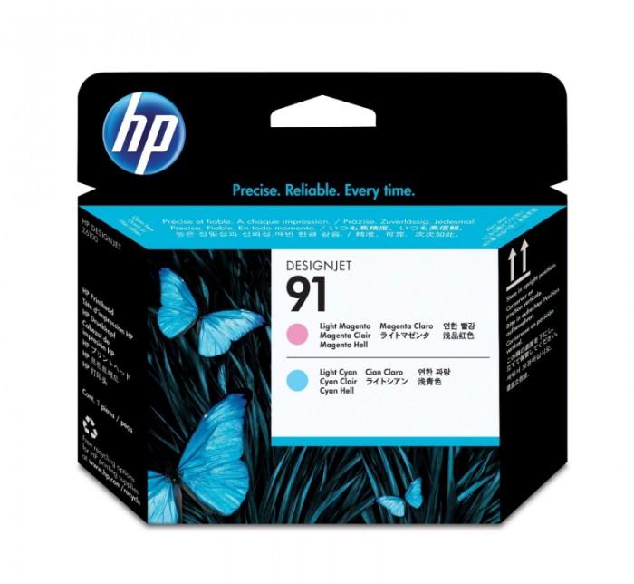 Cartus cerneala Original HP Magenta Light+Cyan Light Printhead 91, compatibil DesignJet Z6100  [0]