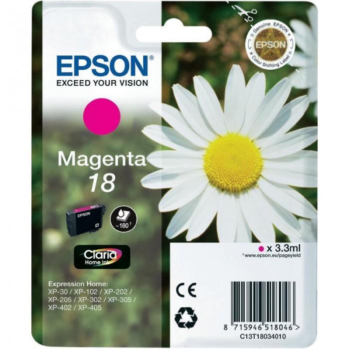 Cartus cerneala  Original Epson Magenta T18034010 INK 18 compatibil  XP102/202/205/30/302/305/402/405, 180 pag   0