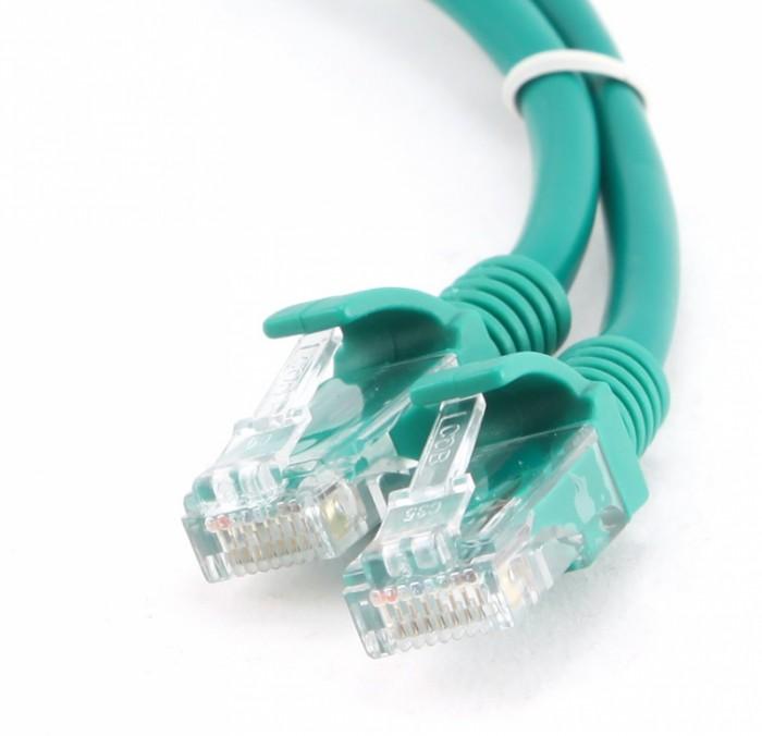 Cablu UTP Patch cord cat. 5E, conectori 2x 8P8C, lungime cablu: 2m, bulk, Verde, GEMBIRD  0