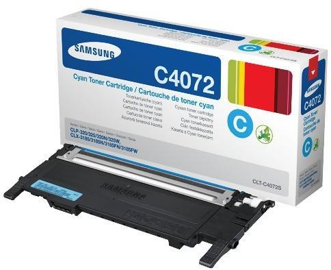 Toner Original pentru Samsung Cyan, compatibil CLP-320/325/CLX-3185, 1000pag  [0]