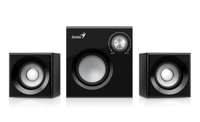 """BOXE 2.1 GENIUS  """"SW-2.1 370"""", RMS: 1Wx2 + 6Wx1, black  0"""