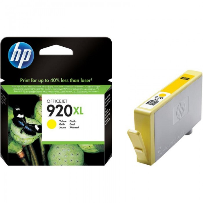 Cartus cerneala Original HP Yellow 920XL, compatibil OfficeJet 6000/6500/7000/7500, 700pag  [0]
