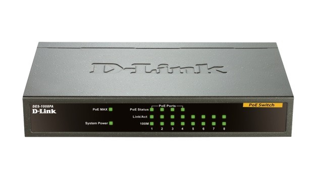 Switch fara management 8 port-uri 10/100M. 4 port-uri PoE, D-LINK  0