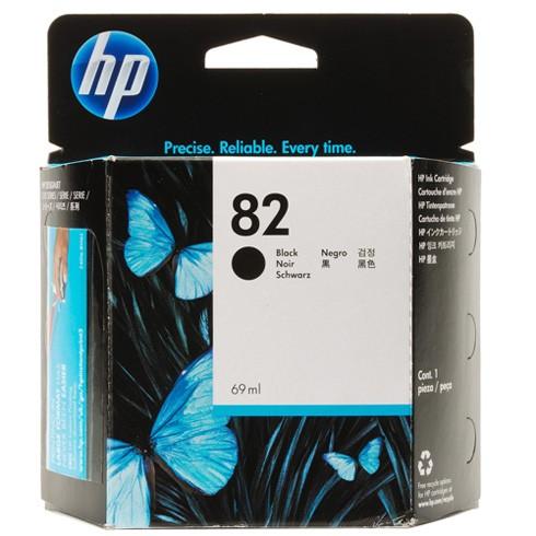 Cartus cerneala Original HP Black 82, compatibil DesignJet 111, 69ml  [0]