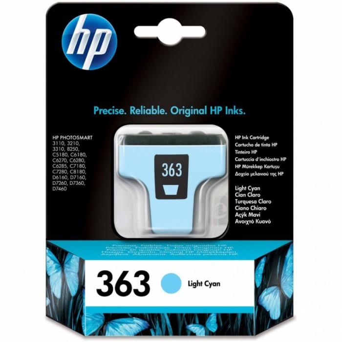 Cartus cerneala Original HP Cyan Light 363 w.Vivera ink, compatibil PhotoSmart 3110/3210/3310/C5180/C6180/C6250/C6280/C8180/D7160/72xx, 6ml, 350pag  [0]