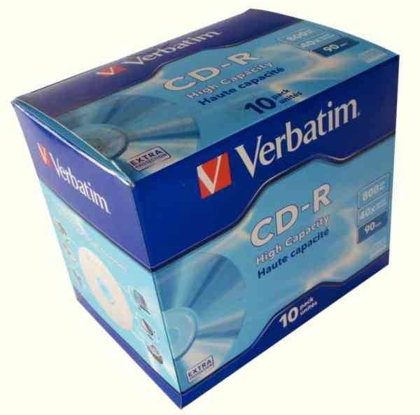 CD-R Verbatim DATALIFE 800MB HIGH CAPACITY JC  0