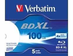 "BLANK BD-R Verbatim XL DATALIFE 4X 100GB JC WIDE WHITE INKJET PRINTABLE HARDCOAT SURFACE ""43789"" (pret la 1 buc. (43790) [0]"