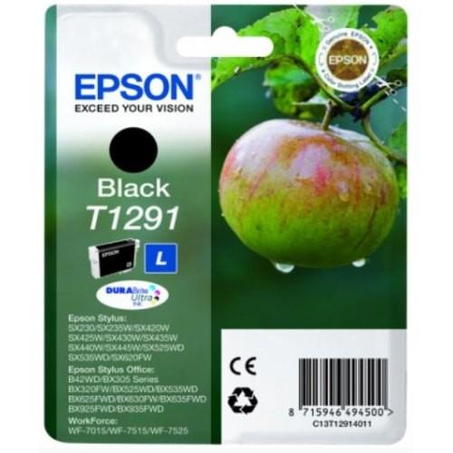 Cartus cerneala  Original Epson Black T1291, compatibil SX425W  0