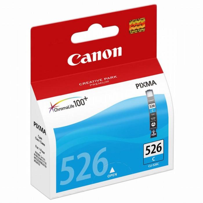 Cartus cerneala Original Canon CLI-526C Cyan, compatibil Canon Pixma iP4850, mg5150/5250/6150/8150  0