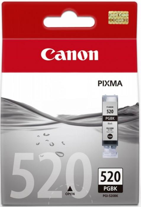 Cartus cerneala Original Canon PGI-520BK Negru, compatibil iP4600  0