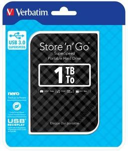 """HDD EXTERN 2.5"""" Verbatim Store 'n' Go USB3.0 1TB gen.2 black  0"""