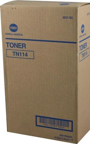 Toner Original pentru Konica-Minolta Negru TN-114, compatibil BizHub 162/210/Di151/183/1611/2011, 11000pag  0