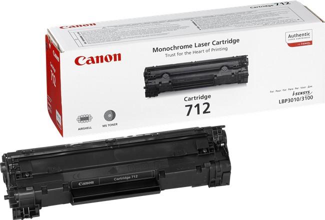 Toner Original pentru Canon Negru CRG-712, compatibil LBP3010/3100, 1500pag  [0]