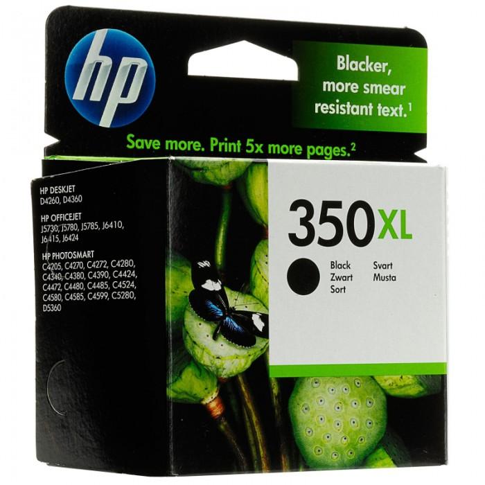 Cartus cerneala Original HP Black 350XL w.Vivera ink, compatibil DJ D4260/4360/J5730/5780/6410/PS C4205/4272/4280/4480/5280, 25ml  0