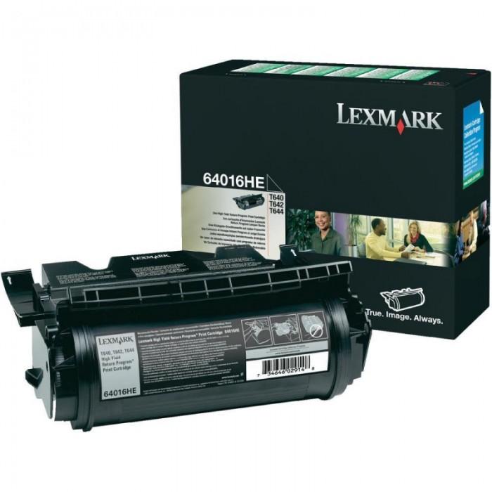 Toner Original pentru Lexmark Negru, compatibil Optra T640/642/644, 21000pag  0