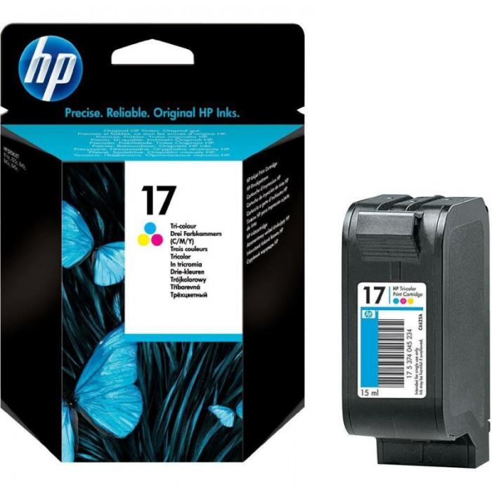 Cartus cerneala Original HP Tri-color 17, compatibil DJ840C/84x, 15ml, 430pag  0