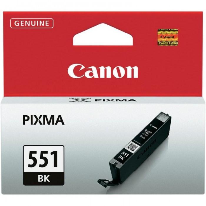 Cartus cerneala Original Canon CLI-551BK Negru, compatibil IP7250/MG5450/MG6350  0