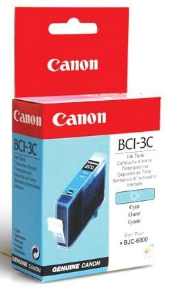 Cartus cerneala Original Canon BCI-3C Cyan, compatibil BC-31  0