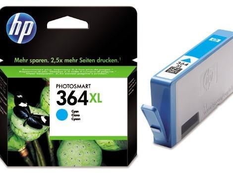 Cartus cerneala Original HP Cyan 364XL w.Vivera ink, compatibil PhotoSmart 7510/C5380/6380/D5460/7560  0