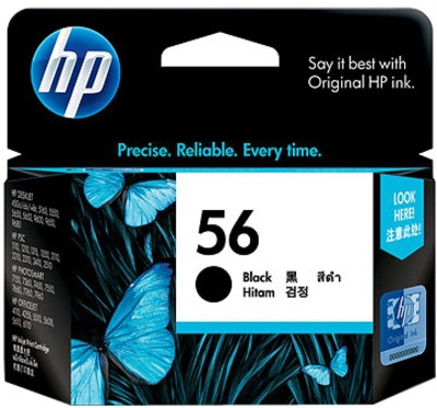 Cartus cerneala Original HP Black 56, compatibil DJ450/5150/5160/5xxx/96xx/7xxx/PSC1xxx/2xxx, 4.5ml  0