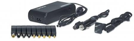 Alimentator notebook, 100 W, 15-24 V, USB, 9 DC plug tips, incl. car adapter, Black, Retail Bo  0