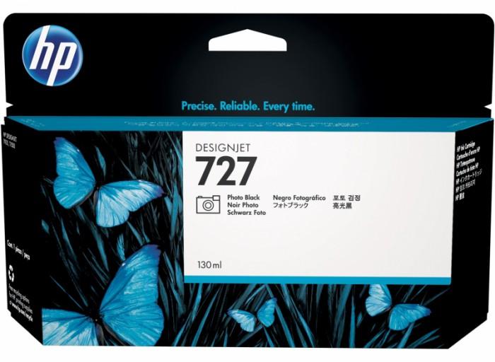 Cartus cerneala Original HP Black Photo 727, compatibil T1500/920, 130ml  0