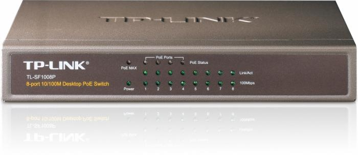 Switch Power Over Ethernet 8 porturi 10/100 TP-LINK TL-SF1008P - 4 porturi POE 0
