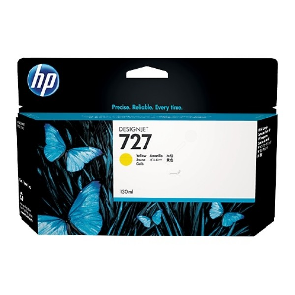 Cartus cerneala Original HP Yellow 727, compatibil T1500/920, 130ml  0