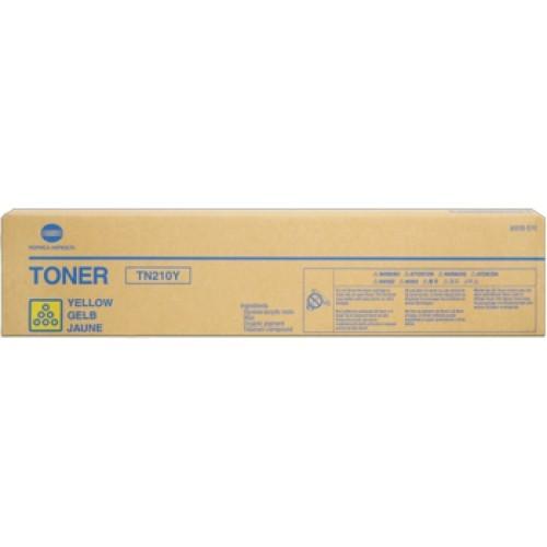 Toner Original pentru Konica-Minolta Yellow TN-210Y, compatibil BizHub 250/252, 12000pag  0