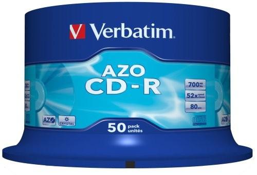 BLANK  CD-R Verbatim  CRYSTAL AZO 52X 700MB  50PK SPINDLE DATALIFEPLUS  0