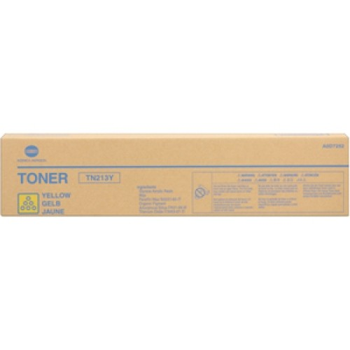 Toner Original pentru Konica-Minolta Yellow TN-213Y, compatibil BizHub C203, 19000pag  0
