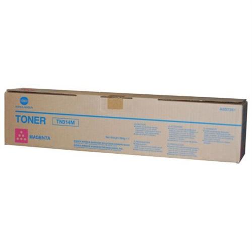 Toner Original pentru Konica-Minolta Magenta TN-314M, compatibil BizHub C353,  1 flacon, 20000pag  0