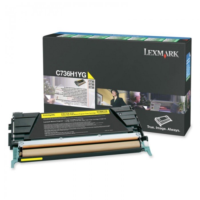 Toner Original pentru Lexmark Yellow, compatibil C736/X736/738, 10000pag  [0]
