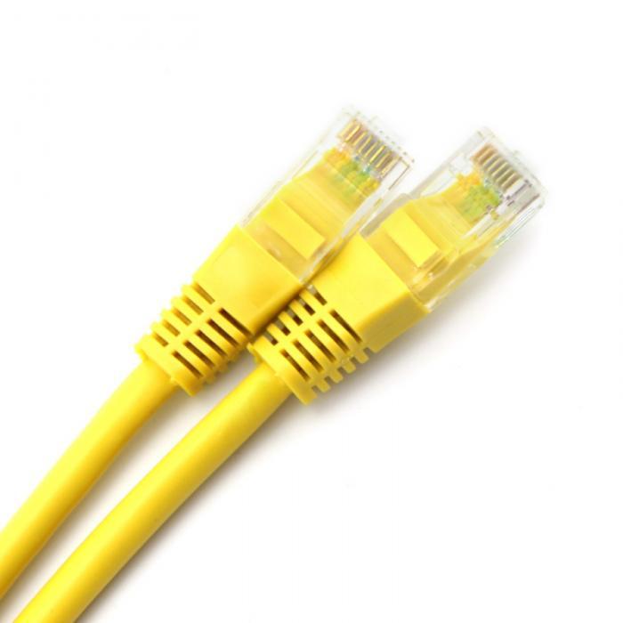 """CABLU UTP Patch cord cat. 5E -  0.5 m, yellow Spacer (SP-PT-CAT5-0.5M-Y"""") 0"""