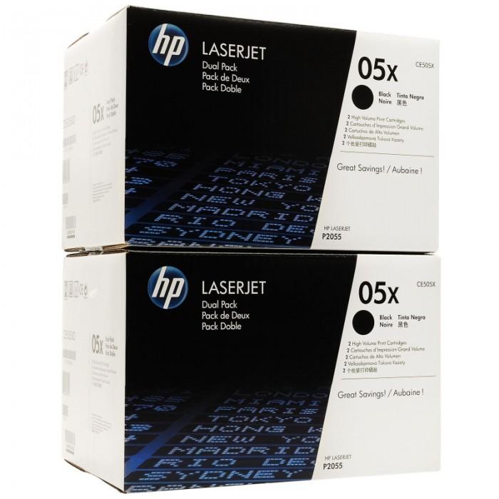 Toner Original pentru HP Negru Dual Pack, compatibil P2055, 2x6500pag  0