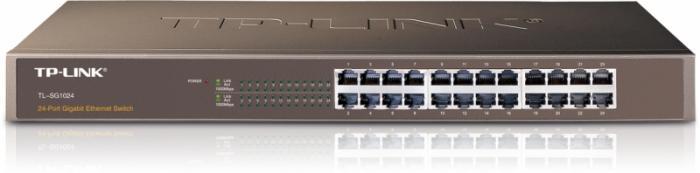 "Switch 24 porturi 10/100/1000 TP-LINK TL-SG1024, carcasa metalica, rack 19"" 1U 0"