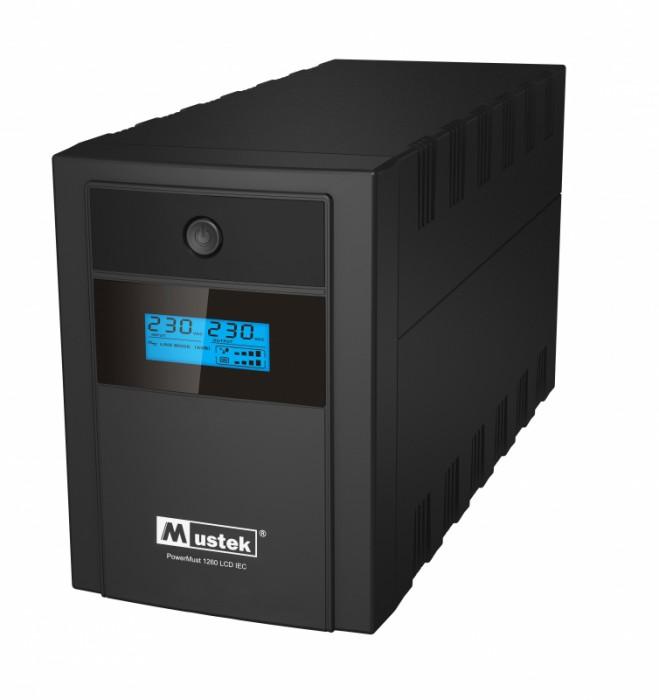 UPS  MUSTEK PowerMust 1260 LCD (1200VA) Line Interactive, IEC  0