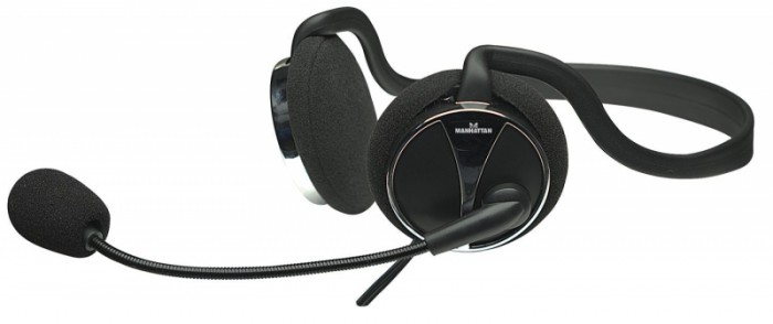 Casti stereo, Behind-The-Neck, Microphone, Volume Control, Black/Silver, Blister  0