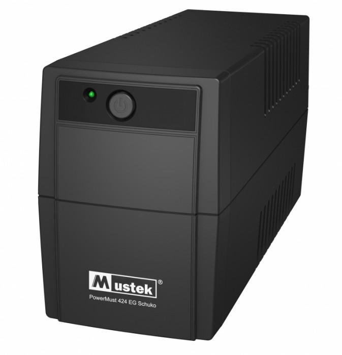 UPS  MUSTEK PowerMust  424EG (450VA) Line Interactive, Schuko  0